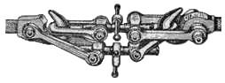 Вместо автосцепки изначально использовалась так называемая стяжка